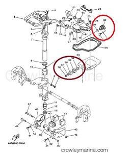 Kit Coxim Motor Yamaha 25 / 30 HP