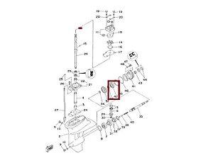 Rolamento Rabeta Yamaha 15 HP