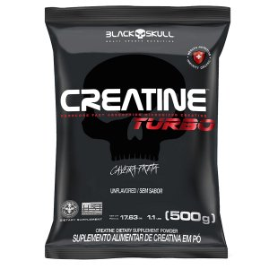 CREATINA TURBO 500G BLACK SKULL