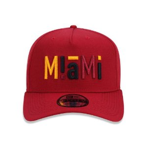Boné New Era 940 Miami Heat Aba Curva