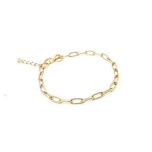 Pulseira folheada a ouro corrente Cartier TAM 18 cm mais extensor
