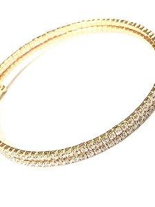 Pulseira folheada a ouro com zirconias cravadas