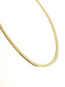 Gargantilha folheada a ouro 18k chocker 35cm