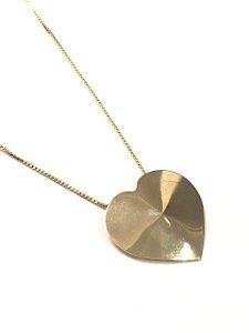 Gargantilha coração folheada a ouro