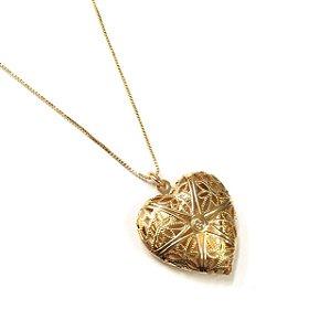Gargantilha Folheada a Ouro com Pingente de coração