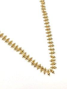 Gargantilha  choker folheada a ouro