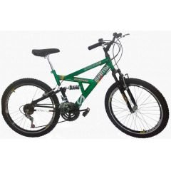 BICICLETA ARO 20 MASCULINA FULL SUSPENSION 18 VEL.