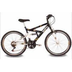 BICICLETA ARO 26 MASCULINA FULL SUSPENSION 21 VEL.