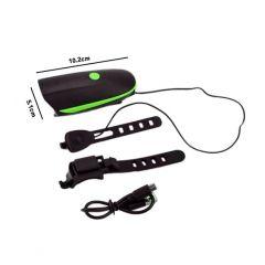 FAROL 250 LUMENS C/ BUZINA RECARREGAVEL USB GB-7588
