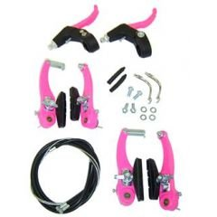 KIT FREIO V-BRAKE NYLON ROSA