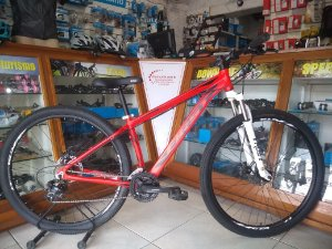 BICICLETA FIRST LIFTY VERMELHA 21 VEL - TAM.: 15.5""