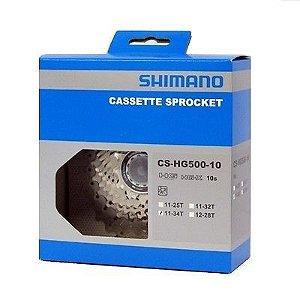 CASSETE 10V. SHIMANO DEORE CS-HG500 11/34D