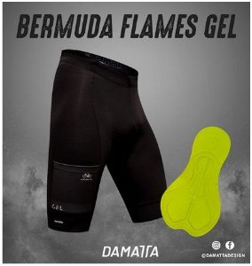 BERMUDA DAMATTA FLAMES GEL PAD 12 - TAM. G