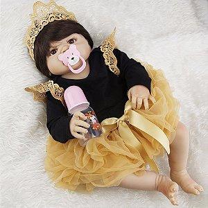 Boneca Bebe Reborn, Menina Princesa