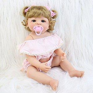 Bebe Reborn Loira, Menina 55 cm, Pronta Entrega