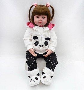 Bebe Reborn Silicone Girafinha, Panda, Mais Vendida