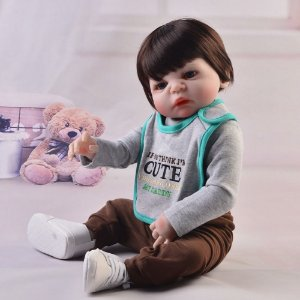 Bebe Reborn, Menino, 57CM Cute