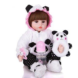 Bebe Reborn Menina, Panda | Pronta Entrega