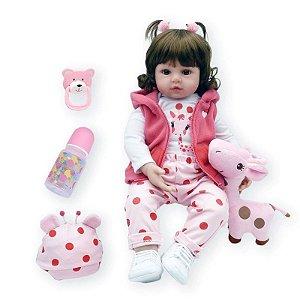 Bebe Reborn Menina, Girafinha 100% SILICONE - Original ®
