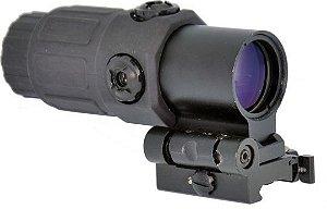 Mira Magnifer TT 4x FTS Red Dot Airsoft 20mm - Grátis Protetor Fairsoft