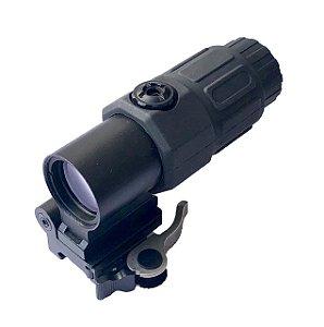 Magnifer Armadillo Airsoft 20mm TT4x fts - Grátis Protetor Fairsoft
