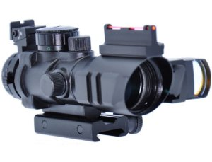 Mira Acog 4x32 e Mini Red Dot Armadillo Airsoft 20mm