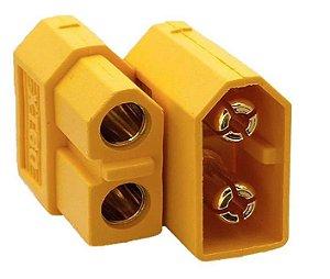 Conector Plug  XT60 p/ Airsoft Par (Macho e Fêmea)