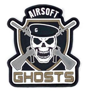 Patch Tático Ghosts 7x8cm - Airsoft