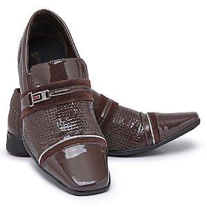 Sapato Social Masculino Em Verniz Bikarelo 095