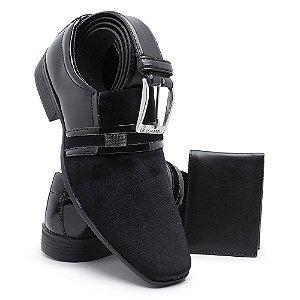 Sapato Social Masculino Com Cinto E Carteira Em Verniz Schiareli 108