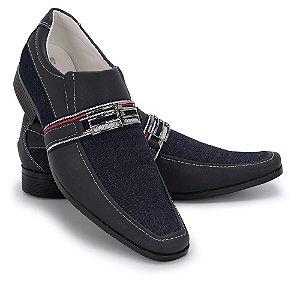 Sapato Social Masculino Em Sintético Com Jeans Schiareli 011