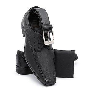 Sapato Social Masculino Em Couro Legitimo Com Cinto E Carteira BR2 911