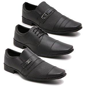 Kit 3 Pares Sapatos Sociais Masculino Fosco Schiareli K65