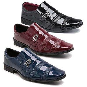 Kit 3 Pares Sapatos Sociais Masculino Em Verniz Schiareli K66