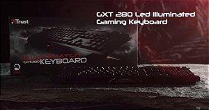 Teclado Gamer Usb Trust Gxt280 Iluminação Multicolor