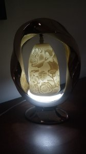 Luminária Francesa em Biscuit