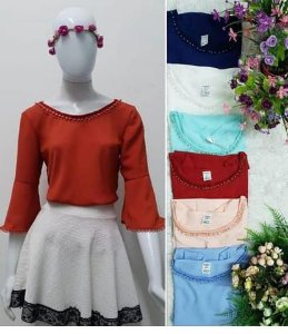 Blusa Fashion manga longa