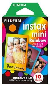Filme instantaneo Instax Mini Rainbow pack com 10 fotos - Fujifilm