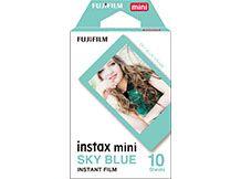Filme instantâneo Instax Mini Azul (Sky Blue) - Pack com 10 fotos Fujifilm