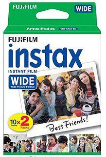Filme instantâneo Instax WIDE - Pack com 20 fotos Fujifilm