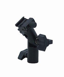Suporte Adaptador Para Sombrinha Flash Speedlite P/ Tripé Luz