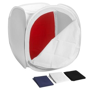 Tenda Fotográfica mini  40x40cm com 4 fundos fotografia de produtos Still