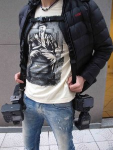 Alça dupla para pendurar camera Fotográfica DSLR Carry Speed CS2
