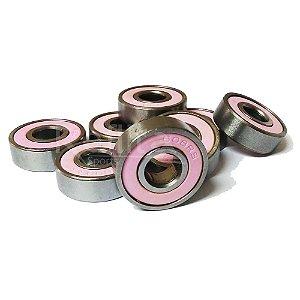 Rolamento 608rs Pink - Jogo com 8 unidades