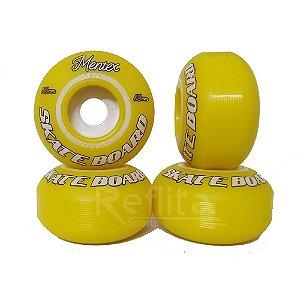 Roda Mentex 53mm 99A - Amarela