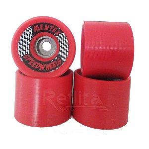 Roda Longboard Mentex 70mm 85a Speed Wheels