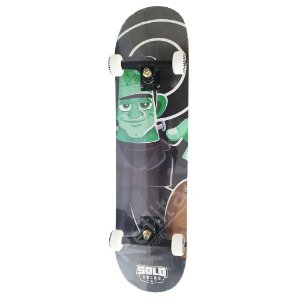 Skate Iniciante Solo Decks Serie Monster Black