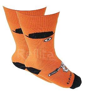 Meia Gnarly Orange
