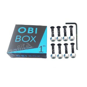 "Kit Parafusos de Base 10"" + Chave Allen Importado - OBi Box"