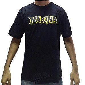 Camiseta Narina Manga Curta Black- Logo